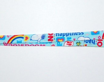 Snoopy Love and Happiness Lanyard - Handcrafted from Snoopy Fabric