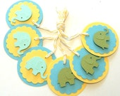 Baby Elephant Gift Tags - Set of 6 Tags