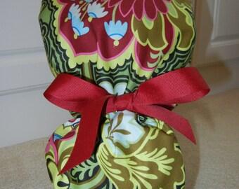 Turn Up Ponytail Scrub Hat in Gothic Rose Burgundy