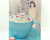 Vintage Hot Chocolate - Holiday Greeting Card!