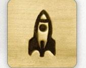 Design Stamp - ROCKET SHIP - 6mm stamped image by ImpressArt -  includes How to Stamp Metal tutorial