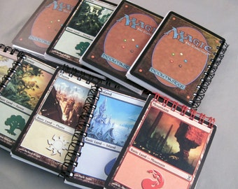 5 Magic the Gathering Life Counters - Recycled Cards Mini Notebook