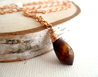 Mookaite Necklace, Plum Gemstone Necklace Rose Gold Fall Fashion Oxblood Burgundy mustard plum Gift for her Under 90 Vitrine