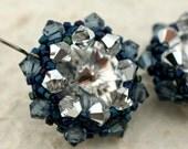 Midnight Stars Crystal Wrapped Rivoli Earrings