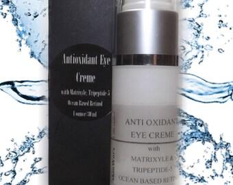 Antioxidant Eye Creme with Matrixyl, Tripeptide-5, Ocean based Retinol