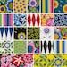 """Jane Sassaman WILD CHILD Design Roll 2.5"""" Precut Cotton Fabric Quilting Strips Jelly Free Spirit"""