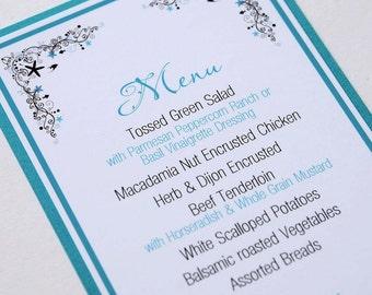 Starfish Beach Destination Wedding/Special Event/Occasion Menu