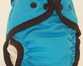 SALE!! Small Zorbeez AIO Blueberries & Chocolate Cloth Diaper SALE