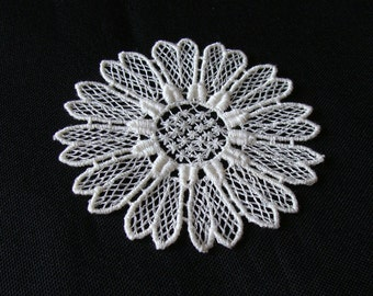 Vintage Schiffli Lace Flower Applique Trim More Available