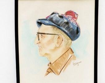 The Old Man, a Vintage Portrait