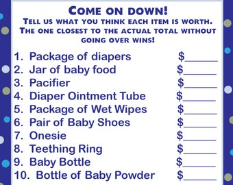 24 Baby Shower Price is Right Game Cards  UNDER THE SEA
