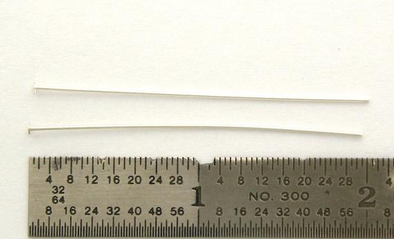 50 - 1.5 Inch HEADPINS 24 Gauge Sterling Silver