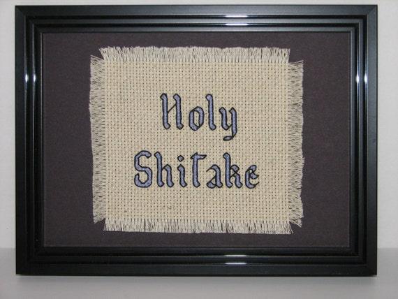 Holy Shitake Counted Cross Stitch