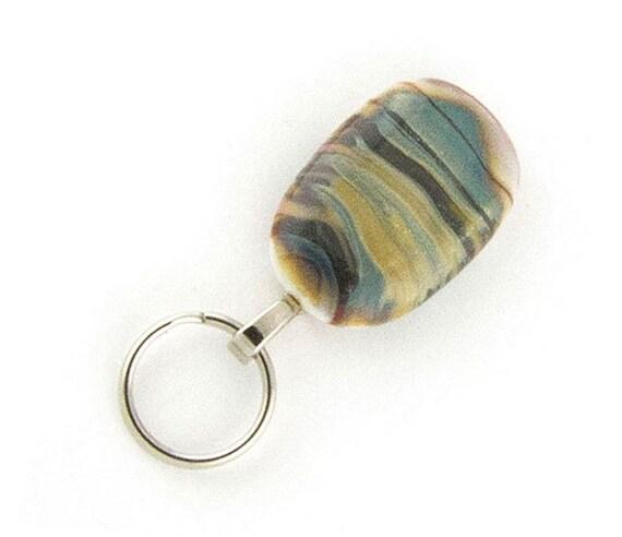 Magnetic ID Badge Holder, Magnetic Eyeglass Holder, cream, blue, brown