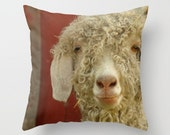 Sheep Pillow Cover Animal Print Red Barn Farm Animal Sweet Things Woodland Forest Find White Sheep Northern Cascades