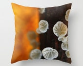 Mushroom Pillow Cover Mushroom Print Affordable Home Photography Prints Nature Photography Decor Nature Lover Woodland Scene Fungi