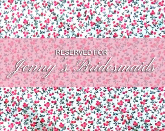 Reserved for Jenny's bridesmaids; unlined tent fit dress with sash in baby pink