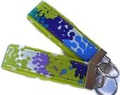 Fabric Mini KeyFobs - Pool Flower Burst --  Key Fobs Key Chains