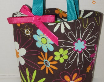 Spring Flowers Purse/Gift Bag/Tote/Easter Basket
