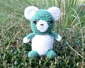Teddy Bear Baby in Plush Kawaii Crochet. Amigurumi Animal Bear. Soft Stuffed Toy Teddy Bear. Stocking Stuffer. Xmas Gift. Ready-to-Ship