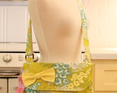 Messenger Bag Blue and Yellow Flowers Cross Body Bag Purse