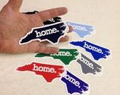 North Carolina Home. Color Vinyl Sticker- Small
