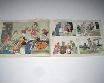 We Meet New Friends Vintage 1940s Children's School Workbook Includes Halloween and Christmas