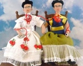 Frida Kahlo The Two Fridas 3D Miniature Doll Art Collectible