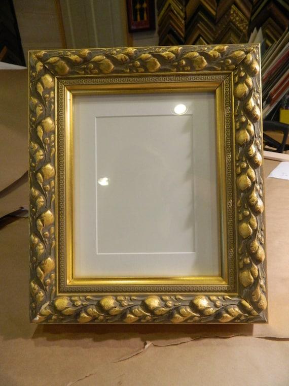 fancy gold frame 8 x 10 with matting for 5 x 7. Black Bedroom Furniture Sets. Home Design Ideas