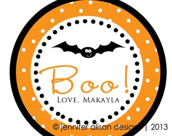 SALE! Halloween Bat STICKERS / Cupcake Topper / labels /Thank You Tag / various sizes