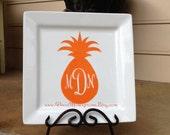Monogrammed Pineapple Vinyl Decal
