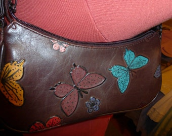 Handpainted Leather Purse