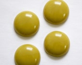 Vintage Chartreuse Green Acrylic Cabochons 18mm cab834F