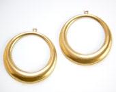 1 Loop Raw Brass Large Hoop Pendant Drop (4) mtl414B