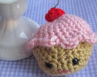 pink amigurumi cupcake