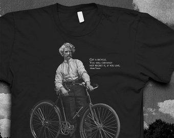 Mark Twain Bike quote Tshirt Mens Softstyle color t-shirt