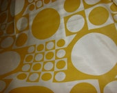 Yellow Symmetrical Vintage Fabric