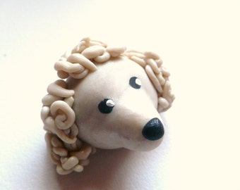 Mini Marble Friend Poodle in Icy Pearl Swirl