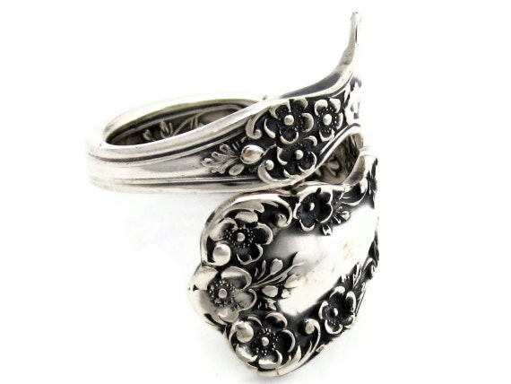 Sterling Silver Spoon Ring Size 5 - 8 Buttercup Demitasse
