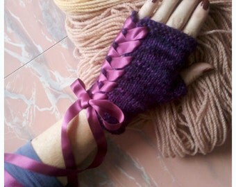 Knitting Pattern- Pirouette Glovelets- PDF download