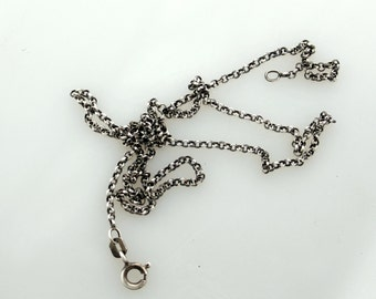 """Necklace Rolo Sterling Cable Chain 2mm 18"""""""