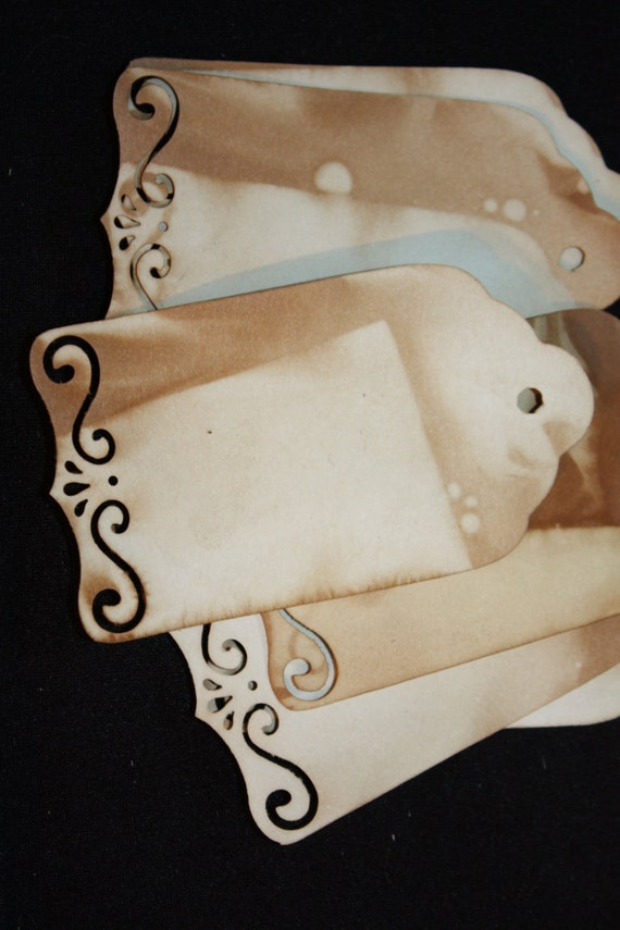Tea Stained Tag set of 50 Tags