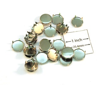 Base Metal Studs Nail Head Style Steampunk , 12mm  Flat Round Finding Leather Embellishment, Sold per 24 pc, 1019-33