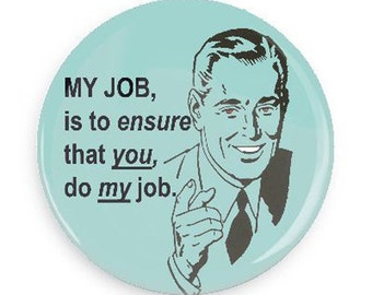 Funny Magnet, Funny Retro Fridge Magnet for Working Woman