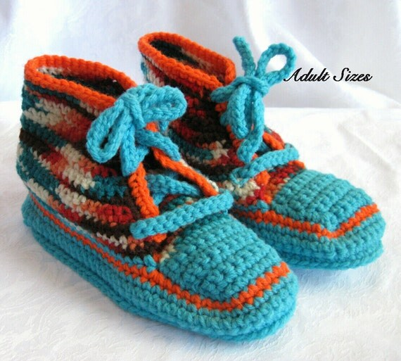 Converse style ADULT slippers Crochet pattern PDF by ...