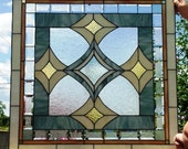 "Stained Glass Window Panel ""Perfect Privacy Bathroom Window"" (W-54)"