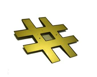 Plexiglass Hashtag #