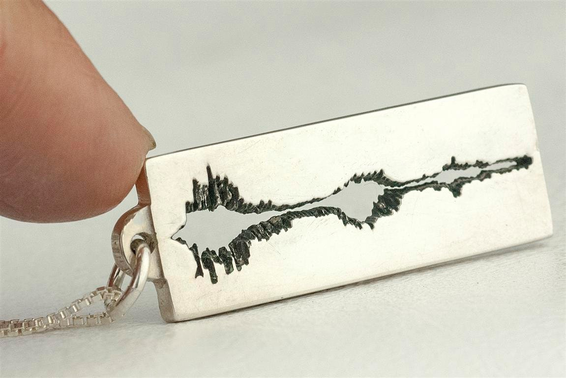 soundwave jewelry sound wave necklace jewelry soundwave personalized custom 4082