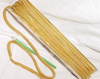 Vintage 70s Gold Velvet Cord Bolt 20 yds Uncut