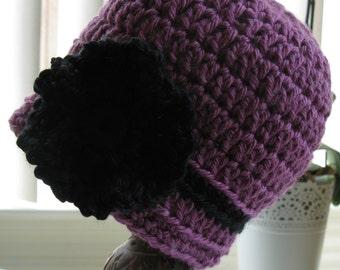 Raspberry Pink Newborn Baby Infant Girl Hat Cap Crochet